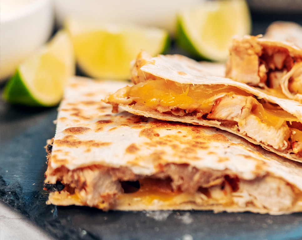 quesadillas with assorted meats
